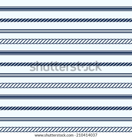 Seamless pattern with nautical elements. Vector illustration - stock vector