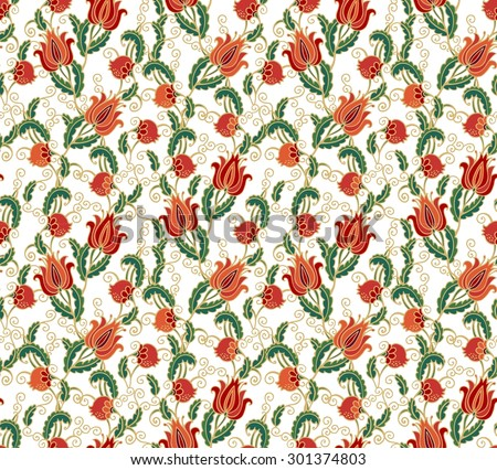 Seamless pattern with pomegranate - vector - stock vector