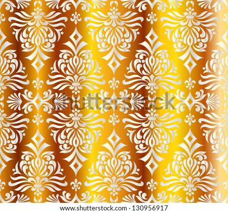 seamless pattern with shapes like Christmas trees - stock vector