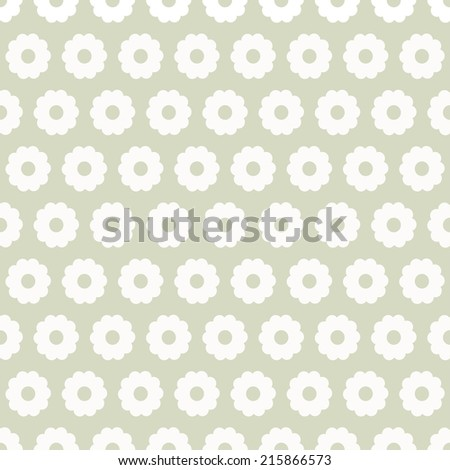 Seamless pattern with silhouettes daisy flowers. Abstract floral repeating background. Endless print texture. Fabric design. Wallpaper - vector  - stock vector