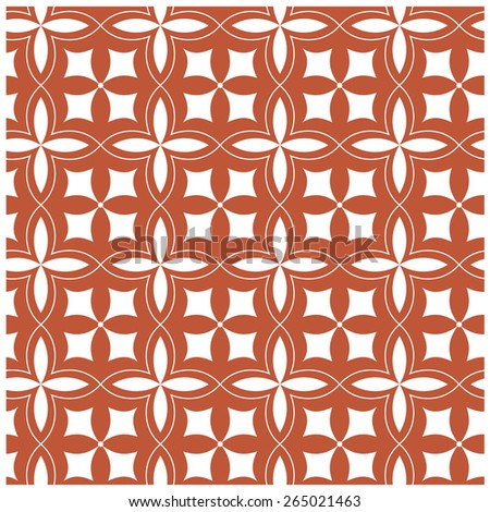 Seamless pattern with simple flower  - stock vector