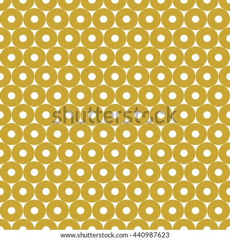 Seamless pattern with symmetric geometric ornament. Abstract repeated circles background. Grill wallpaper. Vector illustration - stock vector