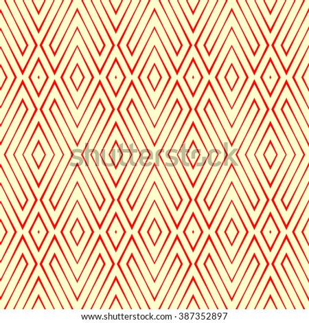 Seamless pattern with symmetric geometric ornament. Ornamental abstract background. Abstract repeated wallpaper. Vector illustration  - stock vector