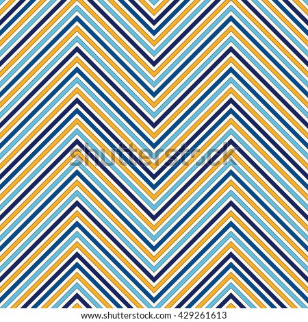 Seamless pattern with symmetric geometric ornament. Zigzag bright ethnic abstract background. Chevron abstract repeated wallpaper. Vector illustration - stock vector