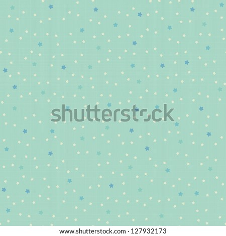 Seamless pattern with tiny stars on retro texture. Vector background. - stock vector