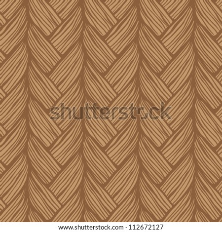 Seamless pattern with tresses - stock vector