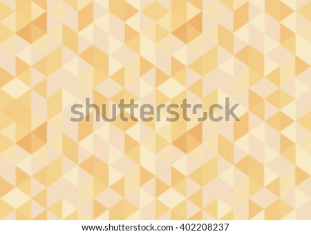 Seamless Pattern with yellow triangles. - stock vector