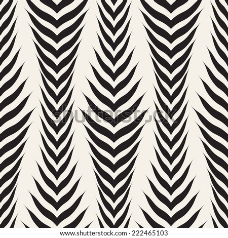 Seamless pattern with zigzag stripes. Corrugated texture. Striped creative print - stock vector