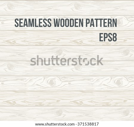 Seamless pattern wood texture, vector Eps 8 illustration. Hand drawn Natural realistic Wooden Background. - stock vector
