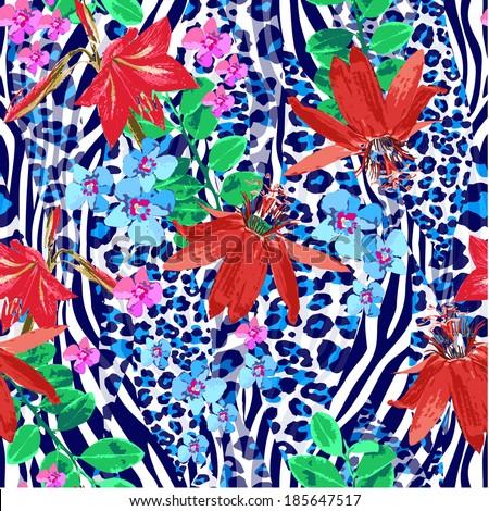 seamless pattern zebra color - stock vector