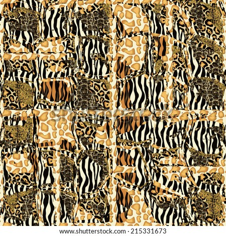 Seamless patterned texture in the form of square tiles - stock vector