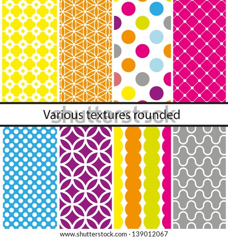 Seamless patterns set, vector backgrounds collection. - stock vector