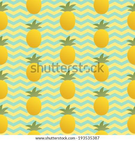 seamless pineapple pattern cute pineapple pattern