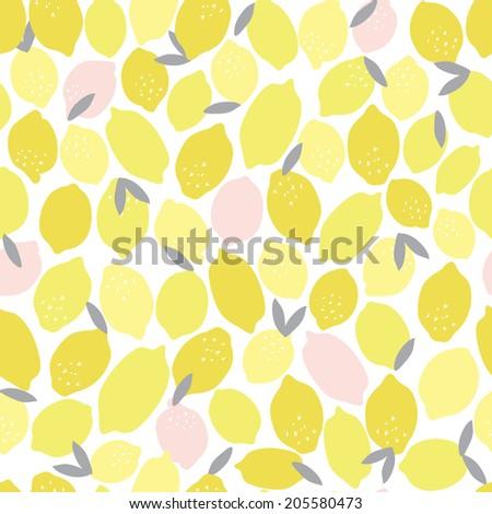 Seamless Pink Lemonade Vector Pattern - stock vector