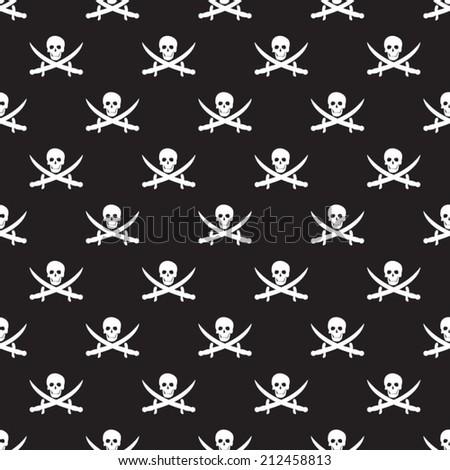Seamless pirate pattern - stock vector