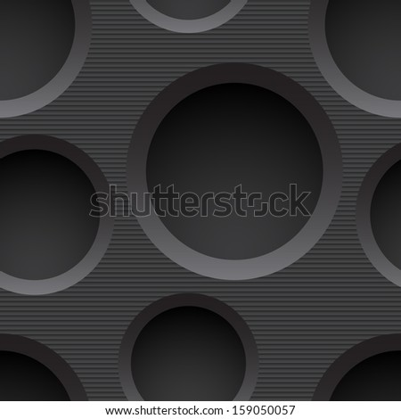 Seamless plastic background with holes. Vector illustration - stock vector