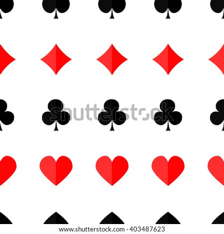 Seamless poker background with suits hearts diamonds clubs spades Vector illustration. - stock vector