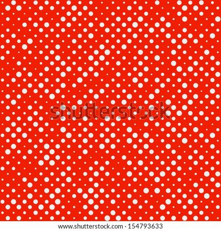 Seamless Polka dot pattern. Vector. - stock vector