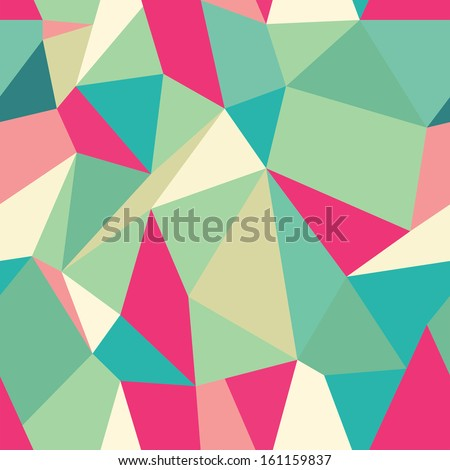 Seamless Polygonal Pattern, Background, Texture Vector Hexagon Triangle - stock vector