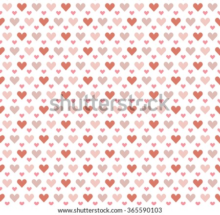 seamless pretty background with hearts and details in fine colors - stock vector
