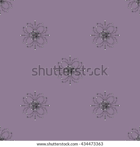 Seamless purple lillac floral wallpaper - stock vector