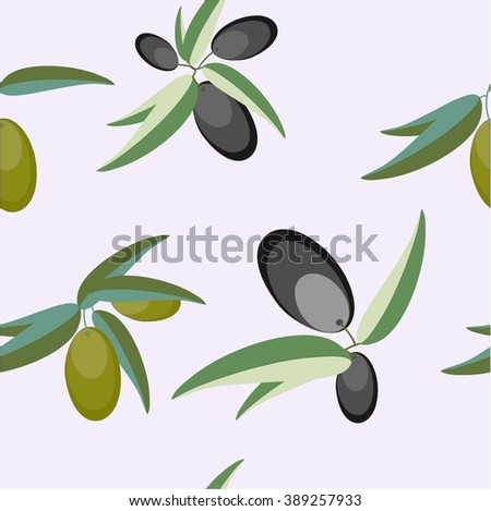 Seamless realistic olive oil background. Illustration vector. - stock vector