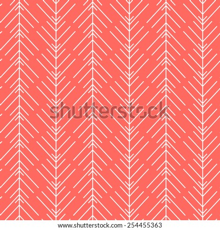 Seamless red vector texture with herring-bone pattern - stock vector