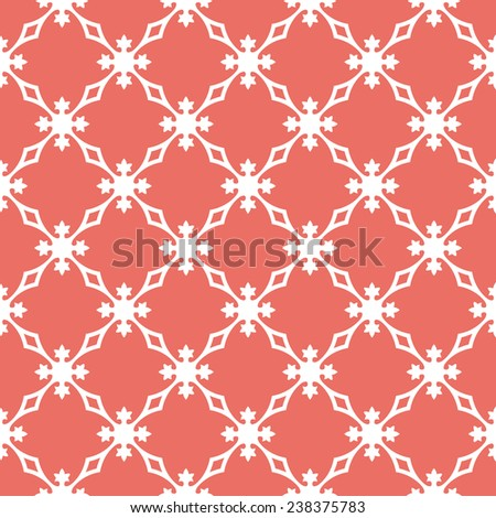 Seamless red vintage revival geometric pattern vector - stock vector