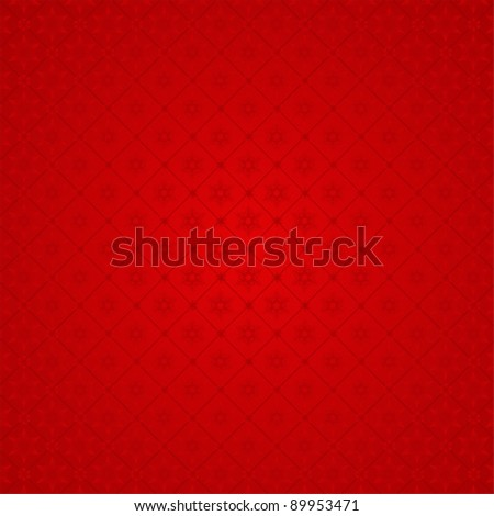 Seamless red winter pattern - stock vector