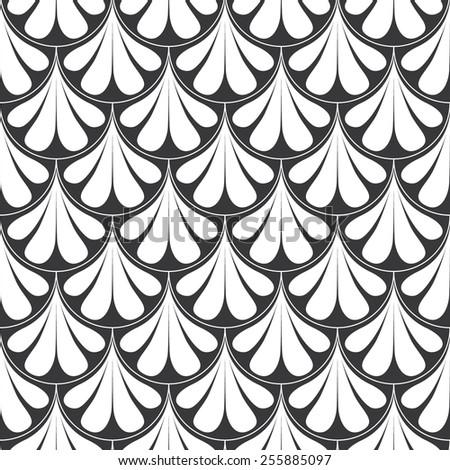 Seamless retro art deco waves pattern vector - stock vector