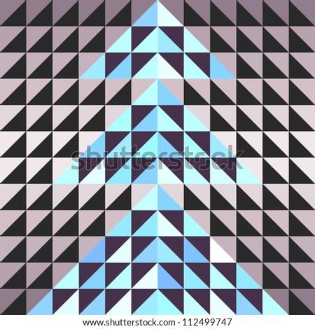 Seamless Retro Geometric Pattern - stock vector