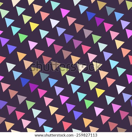 Seamless Retro Geometric Pattern. Texture with triangles, rhombus.Mosaic. Abstract pattern, waves background. - stock vector