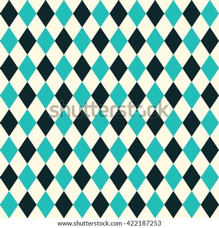 Seamless rhombus background. Geometric background. - stock vector