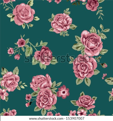 seamless rose pattern for fashion design - stock vector