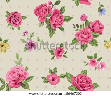 seamless rose pattern  for floral design - stock vector