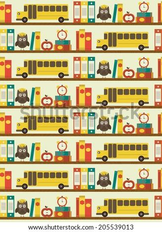 seamless school pattern design. vector illustration - stock vector