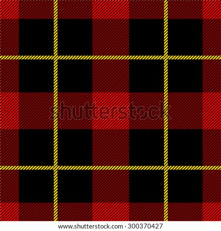 Seamless Scottish tartan plaid pattern. Abstract vector background. Classical black and red. Backgrounds & textures shop. - stock vector