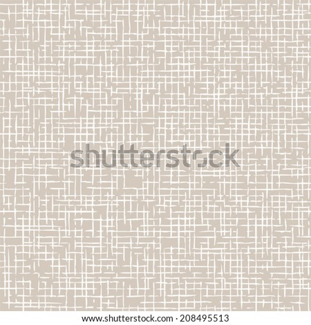 Seamless scrim texture. Pattern of coarse fabric. - stock vector