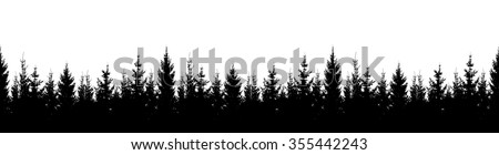 Seamless silhouette forest. Vector - stock vector