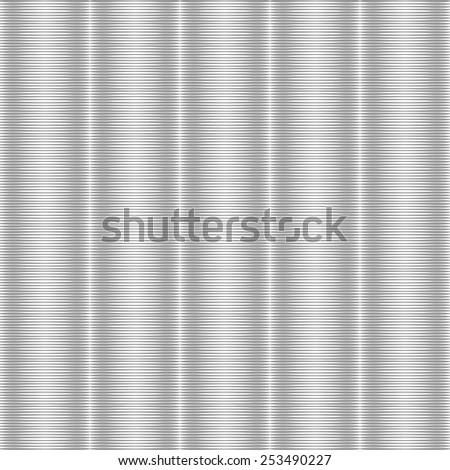 Seamless silvery striped texture. Vector art. No gradient. - stock vector