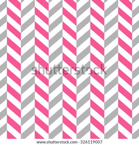 Seamless Simple Geometric Pattern. Pink and Gray colors - stock vector