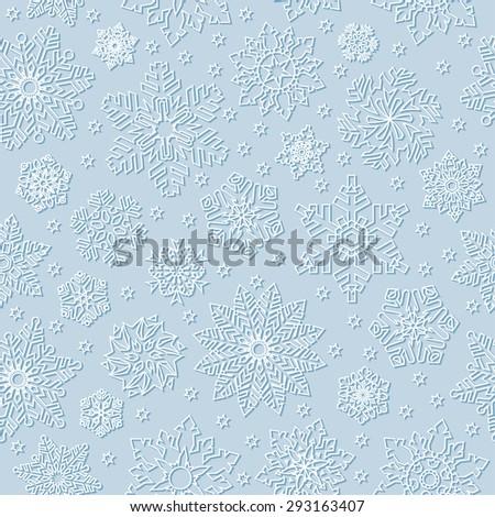 Seamless snowflake background. - stock vector