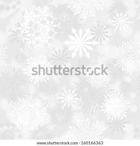 Seamless snowflake patterns. Fully editable EPS 10 vector illustration with transparency. - stock vector