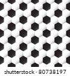 Seamless soccer ball  texture - stock vector