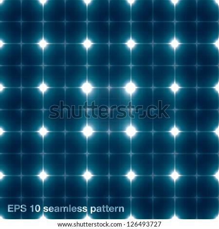 Seamless solar panel vector pattern - stock vector