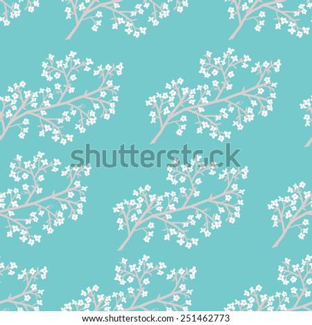 seamless spring branches - stock vector