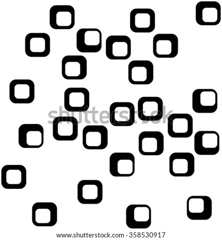 Seamless square pattern. Abstract black and white background - stock vector