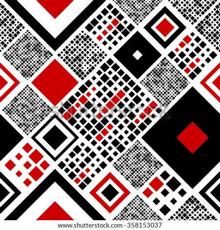 Seamless Square Pattern. Vector Wrapping Paper Background - stock vector