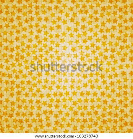 Seamless star texture - stock vector