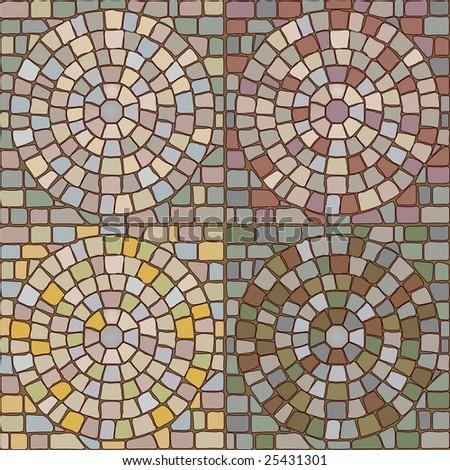 seamless stone patterns - stock vector